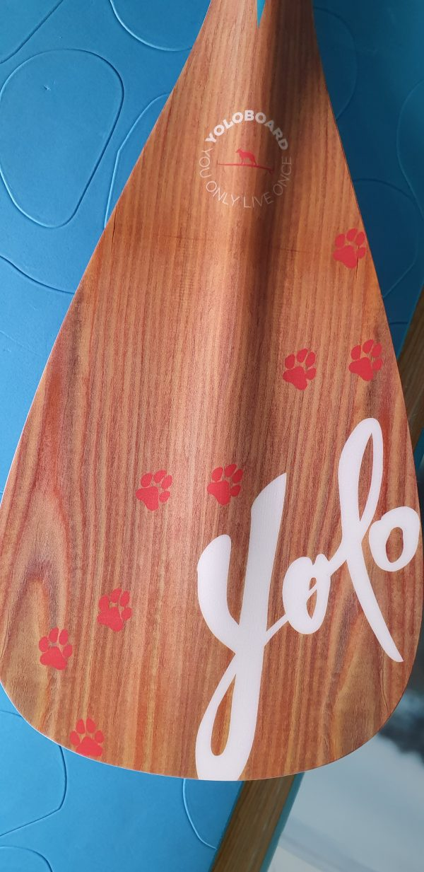 SUP Dog Designpaddel von Yoloboards - Fiberglas